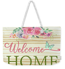 Weekender Tote Bag featuring the digital art Welcome Home-c by Jean Plout