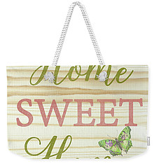 Weekender Tote Bag featuring the digital art Welcome Home-d by Jean Plout