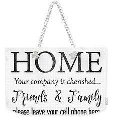 Weekender Tote Bag featuring the digital art Welcome Home-f by Jean Plout