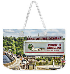 Welcome To Bagnell Dam Weekender Tote Bag
