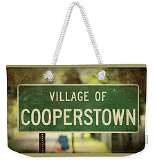 Welcome To Cooperstown Weekender Tote Bag
