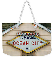 Welcome To Fabulous Ocean City N J Weekender Tote Bag