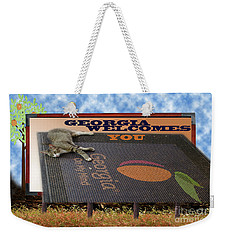 Welcome To Georgia Weekender Tote Bag by Donna Brown