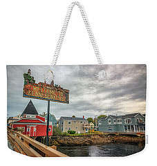 Weekender Tote Bag featuring the photograph Welcome To Kennebunkport by Rick Berk