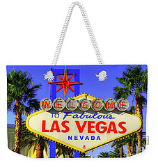 Welcome To Las Vegas Weekender Tote Bag by Anthony Sacco