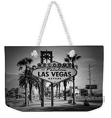 Welcome To Las Vegas Series Holga Black And White Weekender Tote Bag