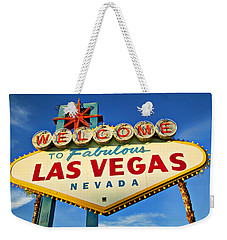 Welcome To Las Vegas Sign Weekender Tote Bag by Garry Gay