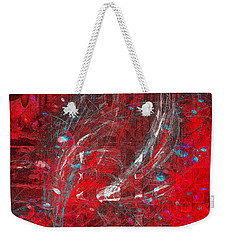 Weekender Tote Bag featuring the digital art Welcome To My World  by Fine Art By Andrew David