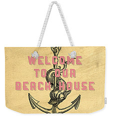 Weekender Tote Bag featuring the digital art Welcome To Our Beach House by Edward Fielding