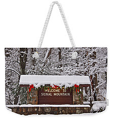 Welcome To Signal Mountain Weekender Tote Bag