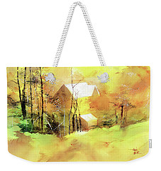Welcome Winter Weekender Tote Bag