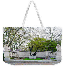 Welcoming To Freedom - Philadelphia Weekender Tote Bag by Bill Cannon