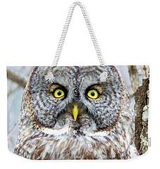 Well Hello - Great Gray Owl Weekender Tote Bag