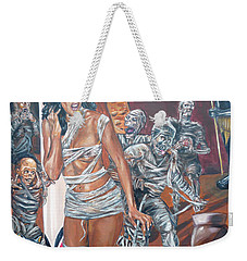 Weekender Tote Bag featuring the painting Well Preserved by Bryan Bustard