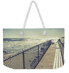 Weekender Tote Bag featuring the photograph Wells Beach Maine by Edward Fielding