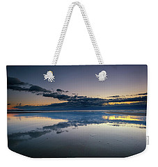 Weekender Tote Bag featuring the photograph Wells Beach Reflections by Rick Berk