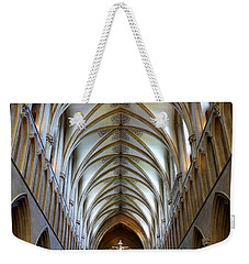Wells Cathedral Ceiling  Weekender Tote Bag by Lexa Harpell