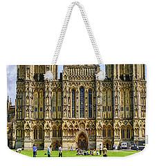 Wells Cathedral In Somerset, Uk Weekender Tote Bag