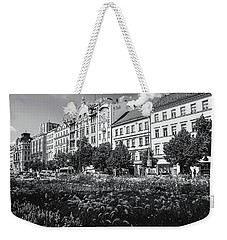 Weekender Tote Bag featuring the photograph Wenceslas Square In Prague by Jenny Rainbow
