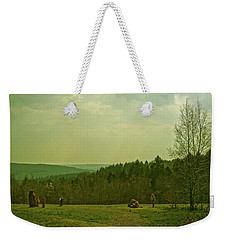 Weekender Tote Bag featuring the photograph Wendover Woods by Anne Kotan