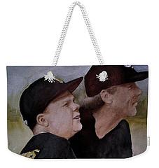 Wes And Dad Weekender Tote Bag