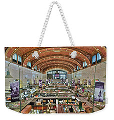 Weekender Tote Bag featuring the photograph West 25th Street Market by Frozen in Time Fine Art Photography