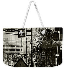 Weekender Tote Bag featuring the photograph West 7th Street by Susan Stone