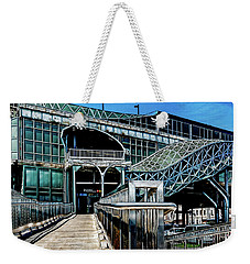 Weekender Tote Bag featuring the photograph West 8th Street New York Aquarium Subway Station by Chris Lord