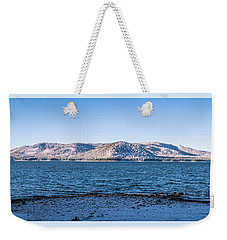 Weekender Tote Bag featuring the photograph West Almanor Blue by Jan Davies