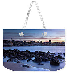 West Cliff Santa Cruz Sunrise Weekender Tote Bag