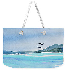 Weekender Tote Bag featuring the painting West Coast  Isle Of Pines, New Caledonia by Dorothy Darden