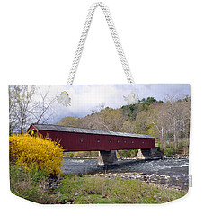 West Cornwall Ct Covered Bridge Weekender Tote Bag