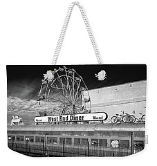 Weekender Tote Bag featuring the photograph West End Diner by James Barber