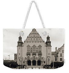 West Facade Of Adam Mickiewicz University Poznan Poland Weekender Tote Bag
