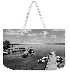 Weekender Tote Bag featuring the photograph West Hawk Lake by Cendrine Marrouat