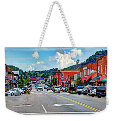 West Jefferson Streetscape Weekender Tote Bag by Dale R Carlson