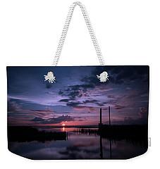 West Lake Toho Blu Indigo Sunset Weekender Tote Bag
