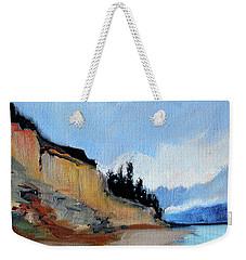 Weekender Tote Bag featuring the painting West Of Dungeness by Nancy Merkle