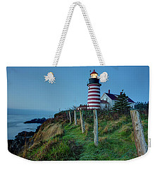 West Quoddy Head Light Weekender Tote Bag