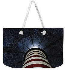 West Quoddy Head Lighthouse Night Light Weekender Tote Bag