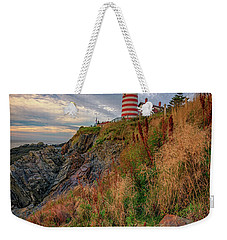 Weekender Tote Bag featuring the photograph West Quoddy Head Lighthouse by Rick Berk