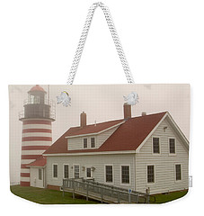 West Quoddy In Fog Weekender Tote Bag