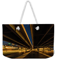 Weekender Tote Bag featuring the photograph West River Road by Randy Scherkenbach