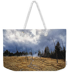 Weekender Tote Bag featuring the photograph West Thumb Geyser Basin   by Lars Lentz