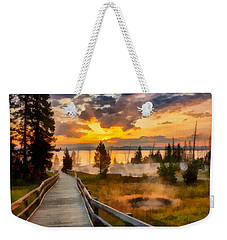 West Thumb Sunrise Weekender Tote Bag