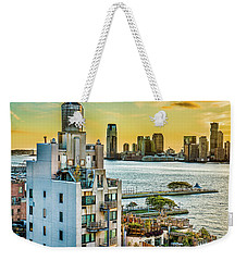 Weekender Tote Bag featuring the photograph West Village To Jersey City Sunset by Chris Lord