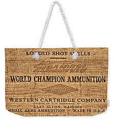 Western Ammunition Box Weekender Tote Bag by American West Legend By Olivier Le Queinec