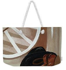 Western Art Work For Luke Weekender Tote Bag