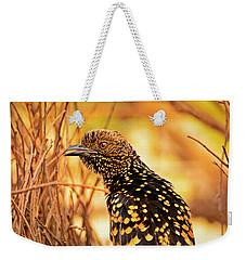 Western Bowerbird Weekender Tote Bag by Racheal  Christian