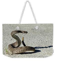 Western Diamondback Rattlesnake Weekender Tote Bag by Skeeze